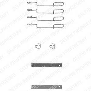 DELPHI LX0347 Комплектующие, колодки дискового тормоза