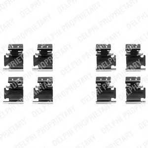 DELPHI LX0354 Комплектующие, колодки дискового тормоза