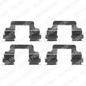 DELPHI LX0383 Комплектующие, колодки дискового тормоза