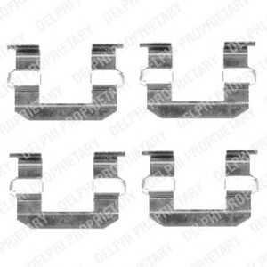 DELPHI LX0400 Комплектующие, колодки дискового тормоза Киа Преджио