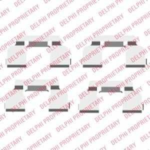 DELPHI LX0410 Комплектующие, колодки дискового тормоза