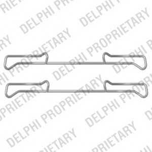 DELPHI LX0436 Комплектующие, колодки дискового тормоза