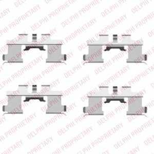 DELPHI LX0444 Комплектующие, колодки дискового тормоза Дайхатсу