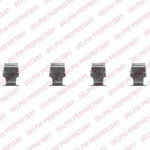 DELPHI lx0468 Комплект монтажный дисковых тормозных колодок