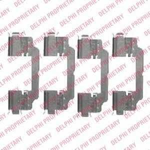 DELPHI LX0475 Комплектующие, колодки дискового тормоза