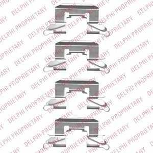 DELPHI LX0507 Комплектующие, колодки дискового тормоза Дайхатсу
