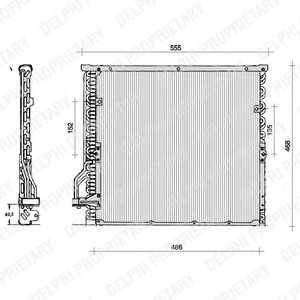 DELPHI TSP0225014 Конденсатор, кондиционер