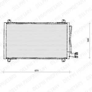 DELPHI TSP0225125 Конденсер кондиціонера