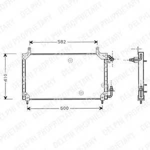 DELPHI TSP0225413 Конденсатор, кондиционер