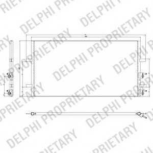 DELPHI TSP0225640 Радiатор кондицiонера