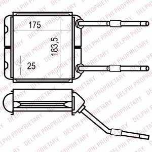 DELPHI TSP0525535 Радіатор пічки