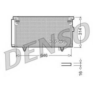 DENSO DCN36001 Радиатор кондиционера