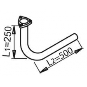 Труба выхлопного газа 53284 dinex - MERCEDES-BENZ T2/LN1 фургон/универсал фургон/универсал 609 D (668.061, 668.062, 668.063)
