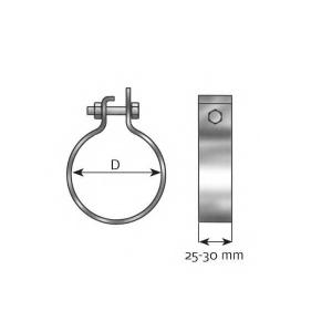 DINEX 99750 Клемма, система выпуска