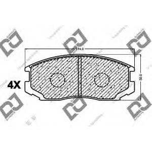 DJ PARTS BP1022 Комплект тормозных колодок, дисковый тормоз Дайхатсу Астраи