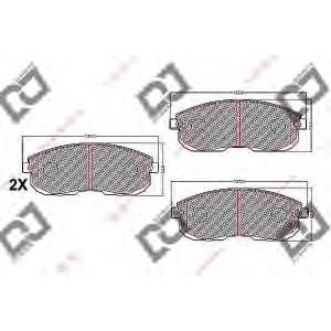 DJ PARTS BP1087 Комплект тормозных колодок, дисковый тормоз Инфинити Ай 30
