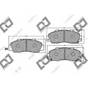 DJ PARTS BP1205 Комплект тормозных колодок, дисковый тормоз Акура Нсх