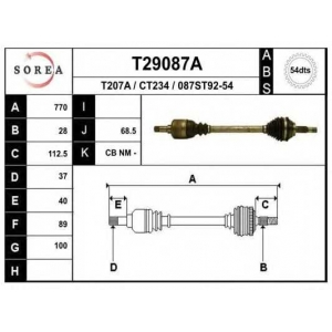 EAI T29087A Приводной вал