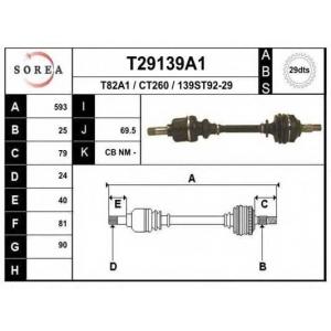 EAI T29139A1 Приводной вал