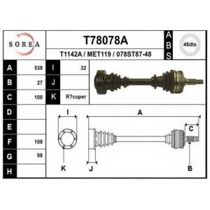EAI T78078A Приводной вал