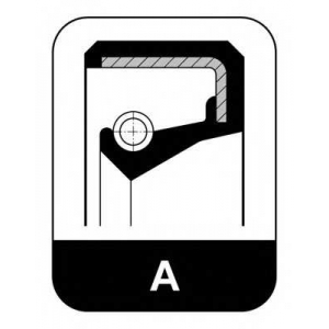 ELRING 043.486 A ACM Oil seal ACM/crankshaft