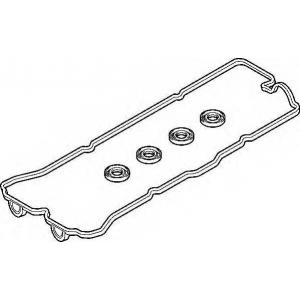 Комплект прокладок, крышка головки цилиндра 389330 elring - NISSAN SUNNY III (N14) седан 1.4 i