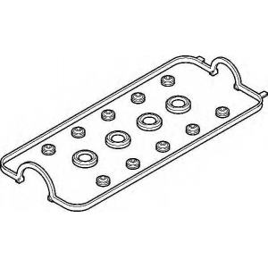 Комплект прокладок, крышка головки цилиндра 458290 elring - HONDA ACCORD VI (CE, CF) седан 2.2 i VTEC (CE9)