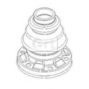 ERT 500401 Комплект пылника, приводной вал