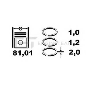 ET ENGINETEAM R1005700 Комплект поршневых колец на поршень