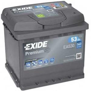 EXIDE EA530 Аккумулятор   53Ah-12v Exide PREMIUM(207х175х190),R,EN540