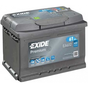 EXIDE EA612 Стартерная аккумуляторная батарея; Стартерная аккумуляторная батарея