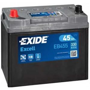 EXIDE EB455 Аккумулятор   45Ah-12v Exide EXCELL(234х127х220),L,EN330 Азия тонк.клеммы