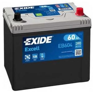 EXIDE EB604 Аккумулятор   60Ah-12v Exide EXCELL(230х172х220),R,EN390