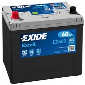 EXIDE EB605 Аккумулятор   60Ah-12v Exide EXCELL(230х172х220),L,EN390
