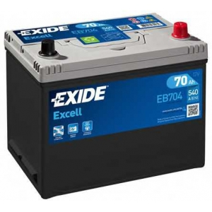 EXIDE EB704 Аккумулятор   70Ah-12v Exide EXCELL(266х172х223),R,EN540