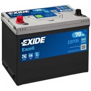EXIDE EB705 Аккумулятор   70Ah-12v Exide EXCELL(266х172х223),L,EN540