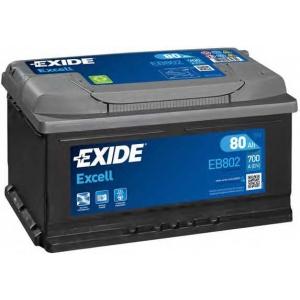 EXIDE EB802 Аккумулятор   80Ah-12v Exide EXCELL(315х175х175),R,EN700