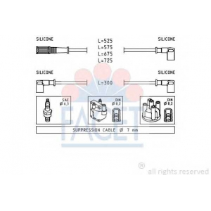 FACET 4.8472 Ignition cable set