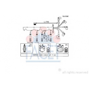 FACET 4.8573 Ignition cable set
