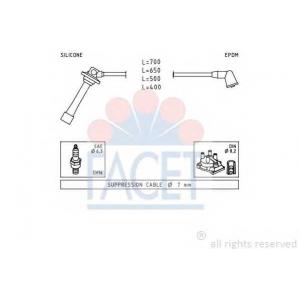 FACET 4.8884 Ignition cable set