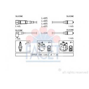 FACET 4.9549 Ignition cable set