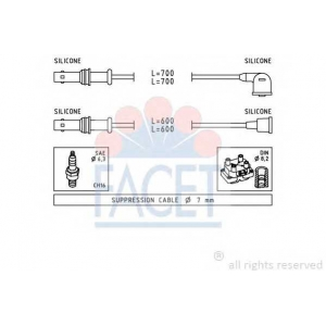 FACET 4.9835 Ignition cable set