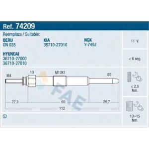 FAE 74209 Свеча накаливания