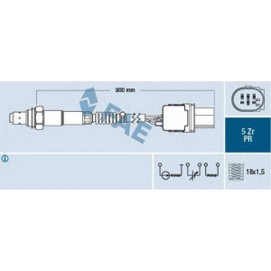 FAE 75055 Oxygen sensor