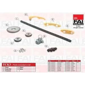 FAI AUTOPARTS TCK3 Комплект цепи маслонасоса-балан валов AR159 2.2JTS