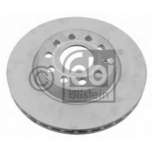 Тормозной диск 22904 febi - SEAT LEON (1P1) Наклонная задняя часть 1.6 TDI