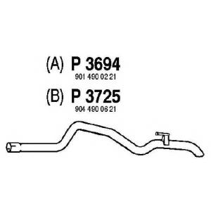 FENNO p3725 Трубопровод выпускной