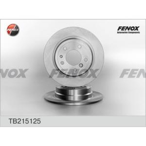 FENOX tb215125 Диск тормозной