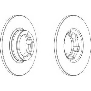 FERODO DDF016 Тормозной диск Дача 1310