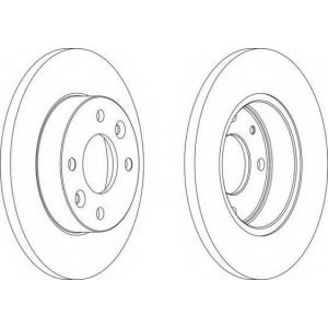 FERODO DDF055 Тормозной диск Дача 1310